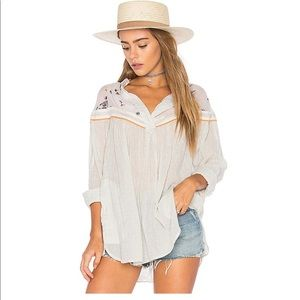 Revolve Free People Hearts & Colors sheer button